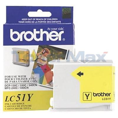 BROTHER DCP-130C INK CARTRIDGE YELLOW